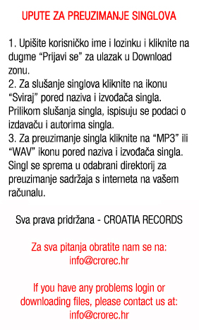 Upute za download singlova